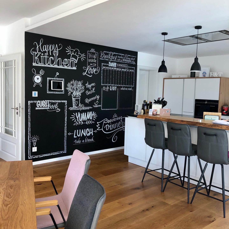 Küche – Tafellettering