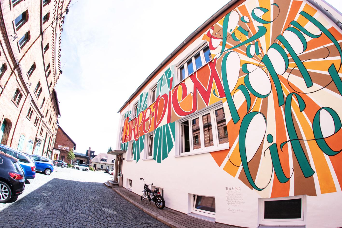 "Presseberichte zum Streetart-Projekt ""Live a hoppy life"""